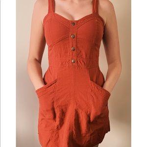 Orange Denim Feel Dress